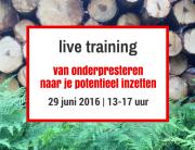 training-onderpresteren