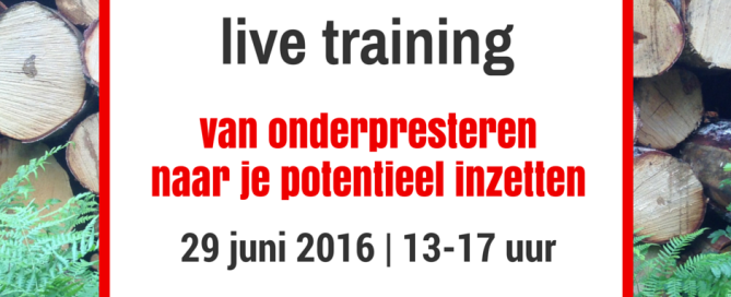 training-onderpresteren